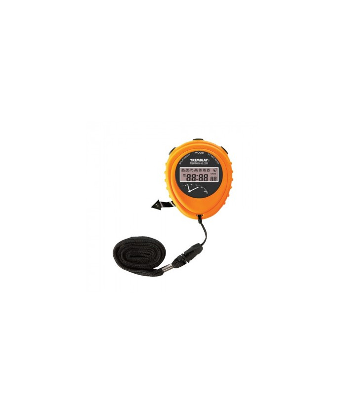 Chronomètre 1/100 sec Tremblay orange