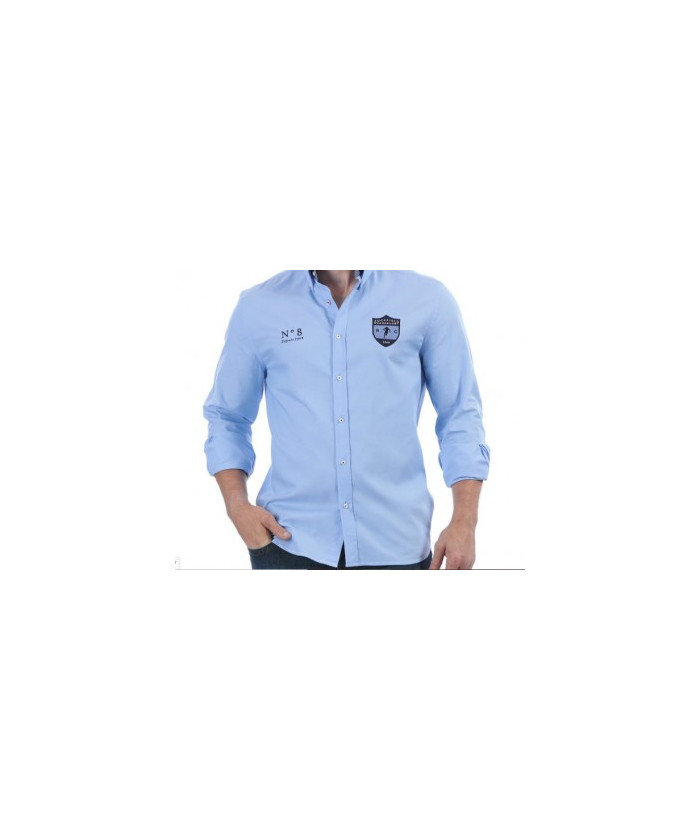Chemise homme manche longue We Are Rugby Ruckfield bleu ciel