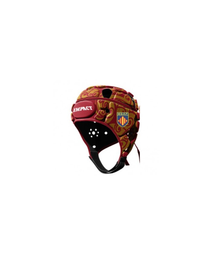 Casque rugby Officiel USAP Perpignan Impact sang or