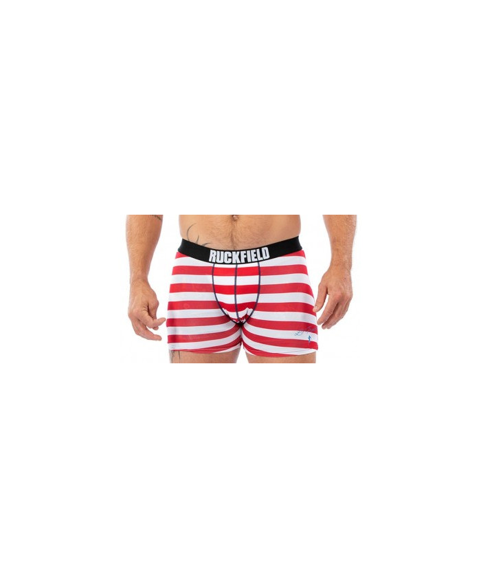 BOXER RUGBY MARINIÈRE ROUGE