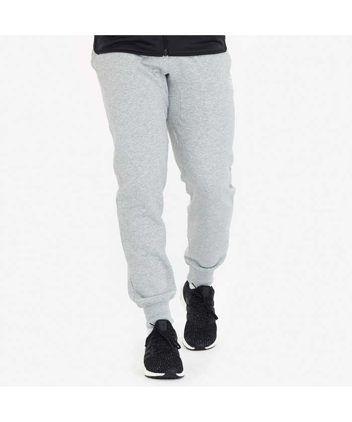 Tapered fleece cuffpant gris