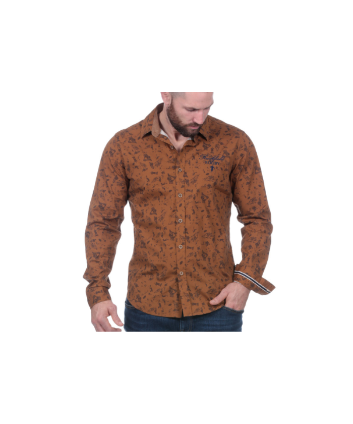 Chemise marron rugby
