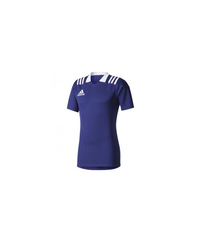 Maillot rugby TW 3S F Adidas bleu foncé